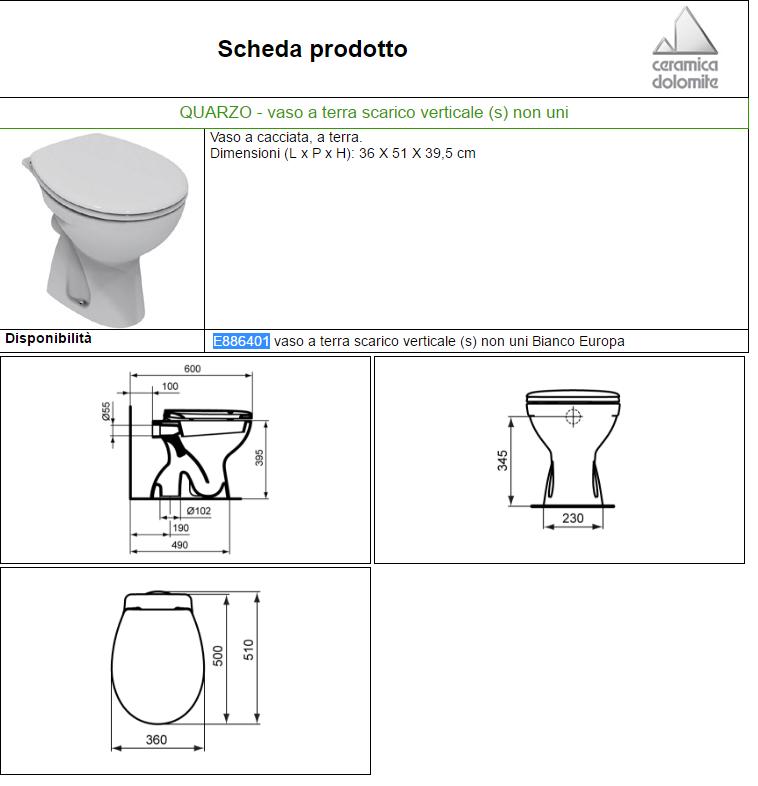 Ceramica Dolomite Schede Tecniche.Vaso Quarzo A Pavimento 51x36xh39 5 Dol Carrieristore Carrieri